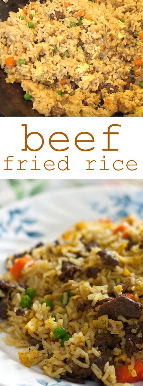 Simple Beef Fried Rice. Be sure to use day old or cold rice for best result. #friedrice #asianfood #easydinner