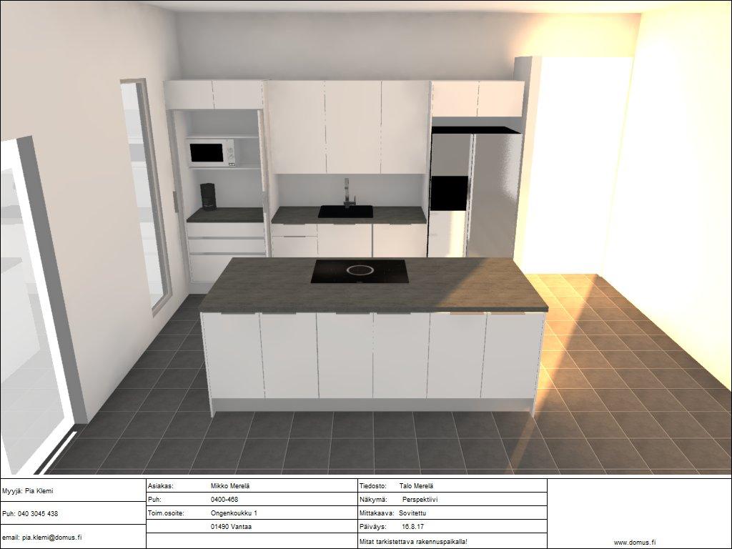 Timpurille talo -Rakennusblogi: Keittiön ja kiintokalusteiden suunnitelu sekä kilpailutus