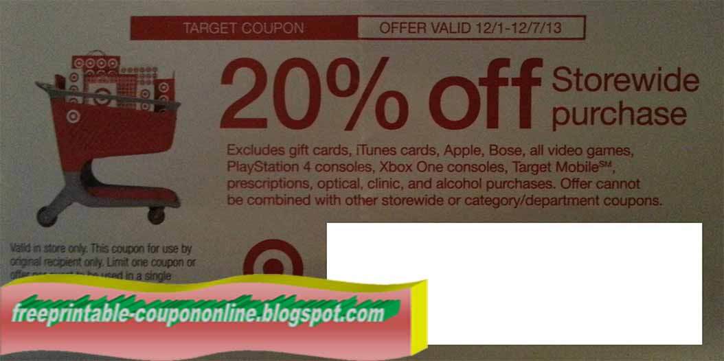 Target coupon codes february 2018