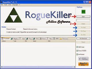 RogueKiller Software Scan Untuk Malware Pada Komputer