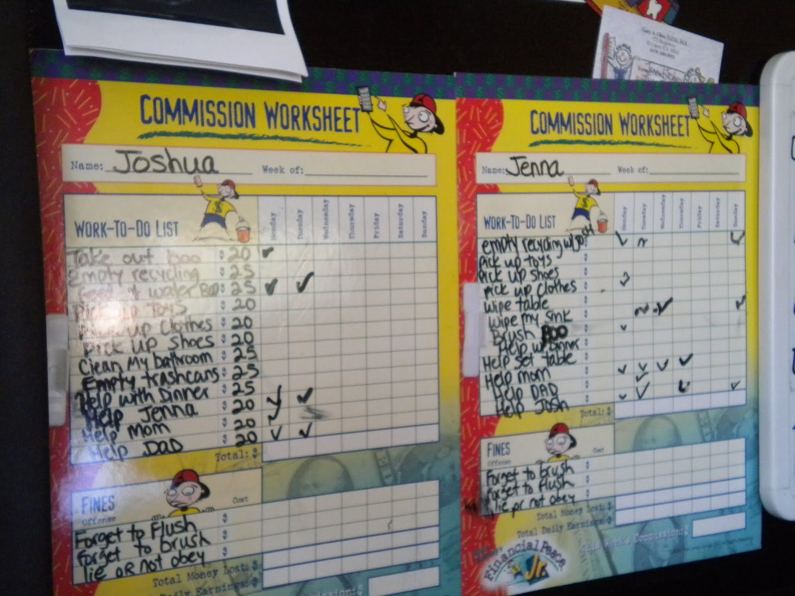 A Woman In Youth Ministry Kids Chore Chart