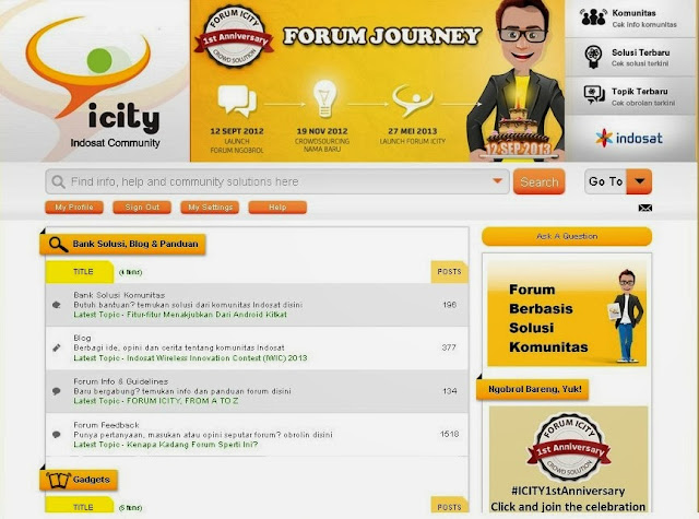 Forum ICITY-Indosat Community