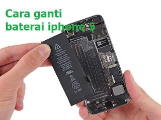 Cara ganti baterai iphone 5, begini cara singkatnya