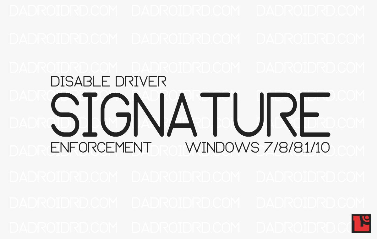 Panduan Disable Driver Signature Enforcement Temporary ...
