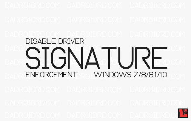 Panduan Disable Driver Signature Enforcement Temporary