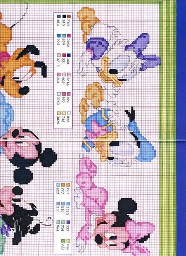 Schemi Disney A Punto Croce Schemi Minnie E Topolino