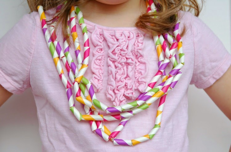 spring necklaces- fine motor craft for kids