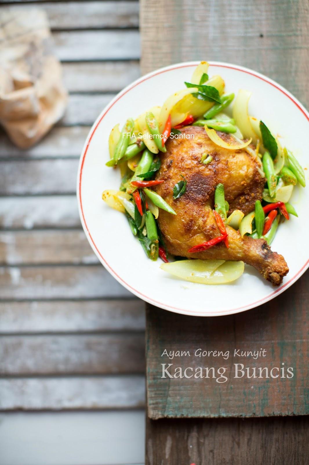 Ayam Goreng Kunyit Kacang Buncis Satu Lagi Juadah Untuk Hari Ke 27 Ramadhan 1437 Hijrah