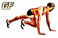Variasi latihan plank knee tuck