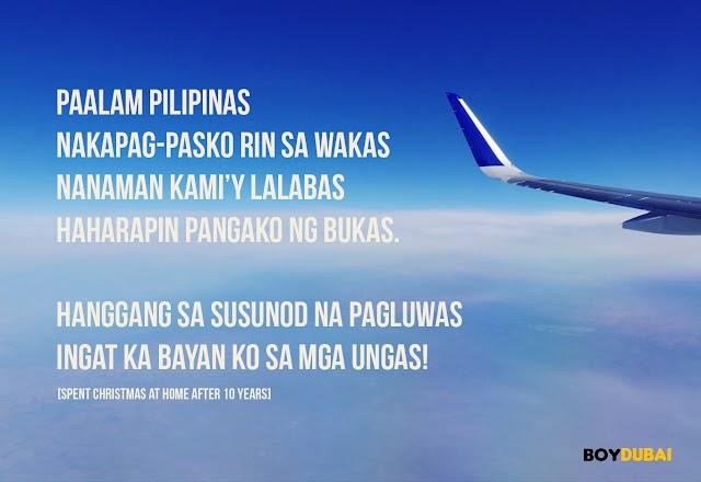 Poem of a traveling balikbayan