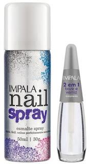 Pauta, Esmalte, Spray, Unhas, Impala Nail Spray, preto, branco, prata, azul, roxo e pink