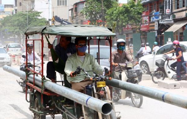 xe ba bánh tự chế bị cấm