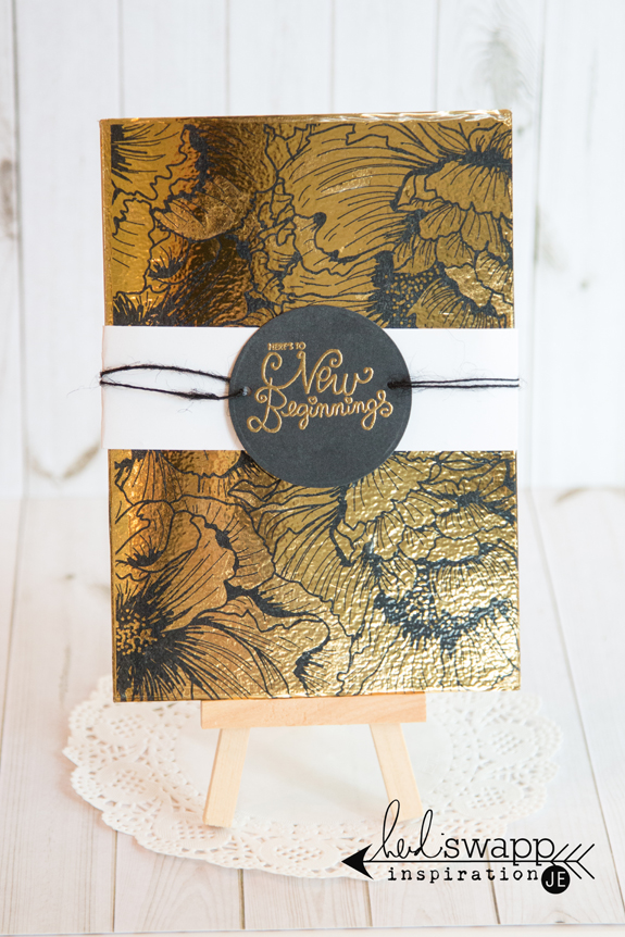 Welcome Home Card @heidiswapp @createoften #heidiswapp #hsminc #diy #card #gold #foiling