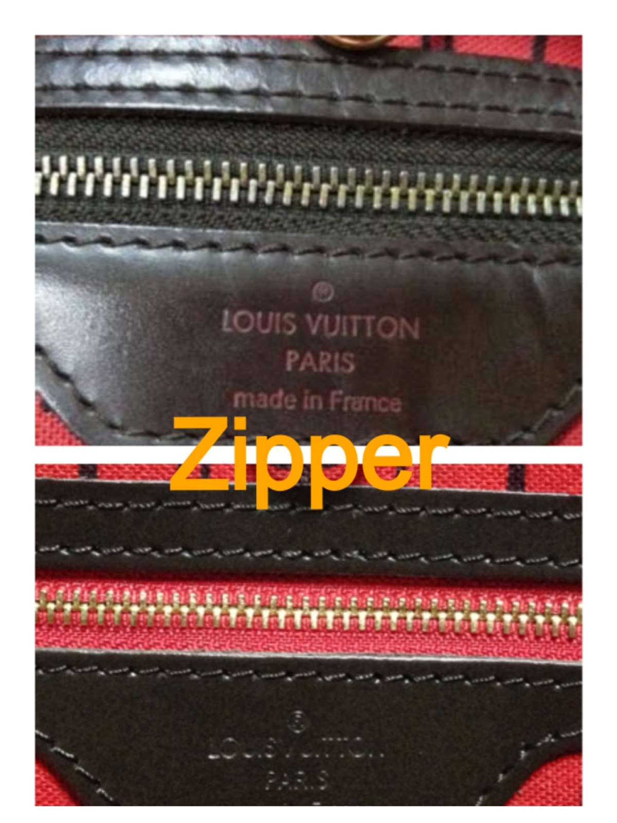 2a149ebb63af OneHappyPinay  How to tell an Authentic LV Neverfull Ebene from a ...