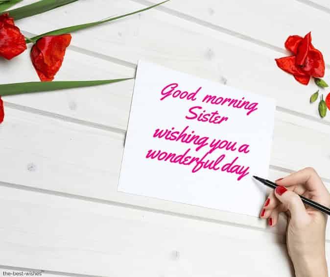 good morning sister greetings