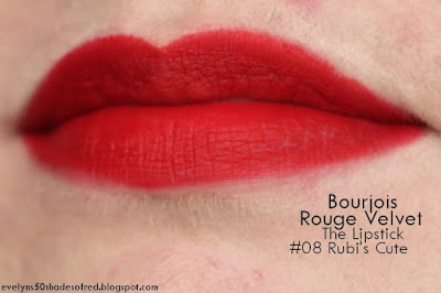 Bourjois Rouge Velvet the Lipstick 08 Rubis Cute