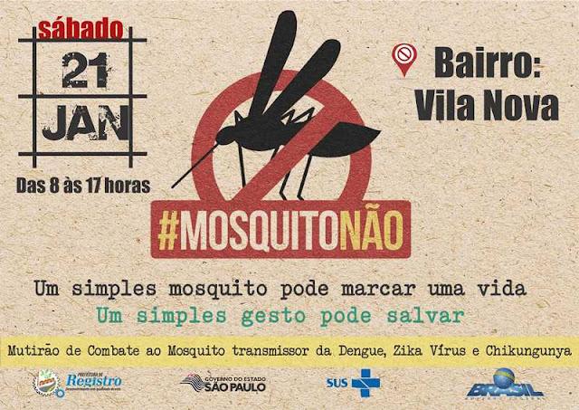 Vila Nova receberá novo mutirão de combate à dengue neste sábado, 21 de janeiro