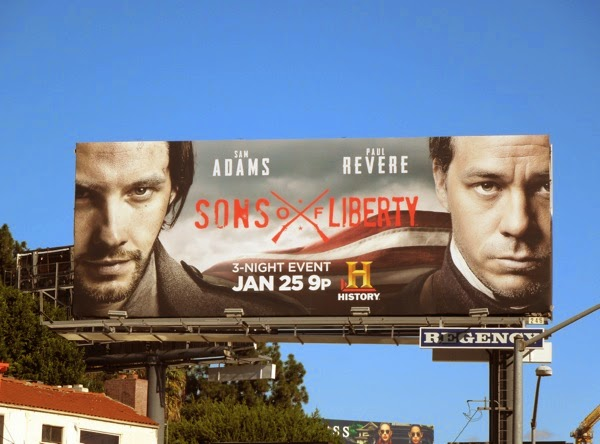 Sons of Liberty TV miniseries billboard