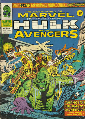 Mighty World of Marvel #205, The Avengers and Triton