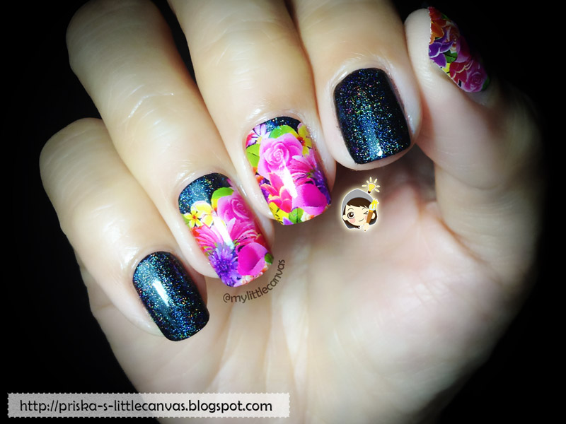 Bright Flowers and Holotastic Glitters! by @mylittlecanvas