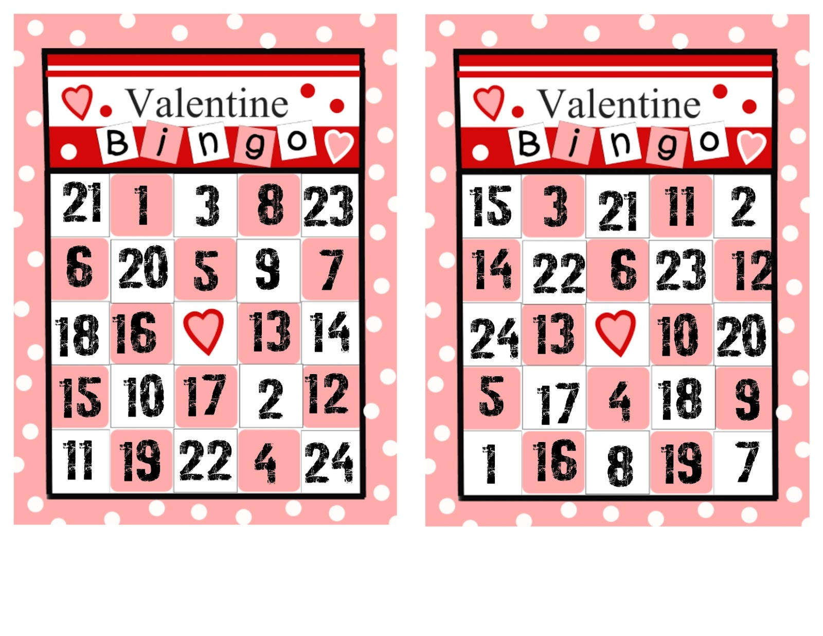 Visiting Teaching Surprise Valentine Bingo 2 Different Sets Of Cards Pictures And Numbers