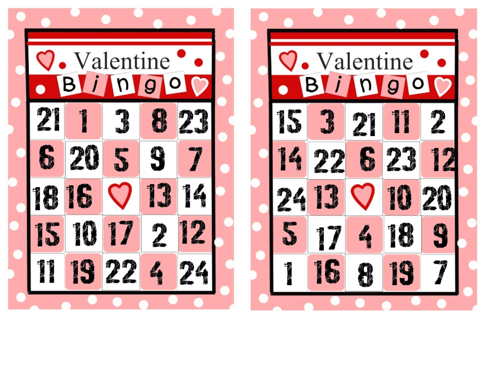Visiting Teaching Surprise Valentine Bingo 2 Different