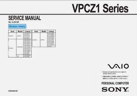 Manuales de Jvare: Manual de servicio vpc-z12 series