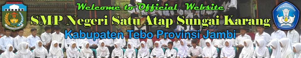 Selamat datang di website resmi SMP Negeri Satu Atap Sungai Karang Kabupaten Tebo