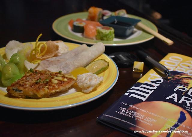 Chinese dishes in Bamboo Lagoon Dubai