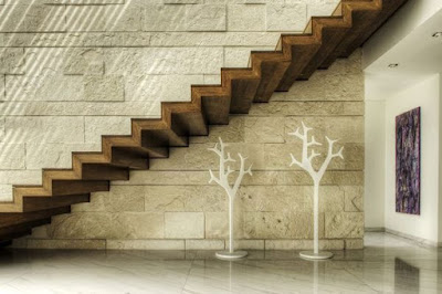 contemporary wooden staircase design and decorating ideas