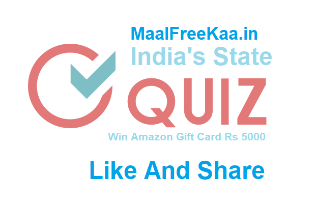 India's States And Capitals Quiz Contest Win Amazon Gift Card 5000