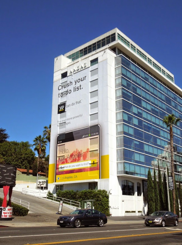 Giant Yellow Pages Crush your to-do list billboard