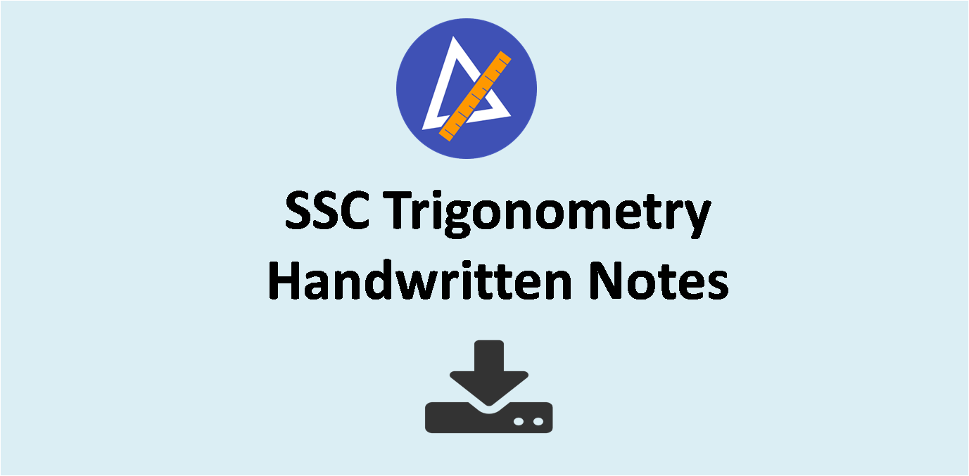 SSC Trigonometry Hand Written Notes for Competitive Exams