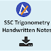 SSC Trigonometry Hand Written Notes for Competitive Exams PDF Download