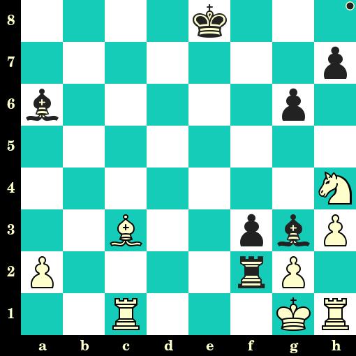 Les Noirs jouent et matent en 2 coups - Valeriane Gaprindashvili vs Orkhan Abdulov, Bakou, 2019