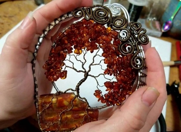 tree of life wire suncatcher tutorial