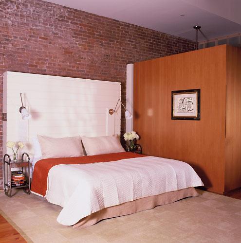 Dormitorios con paredes de ladrillos by dormitorios - Pintura color ladrillo ...