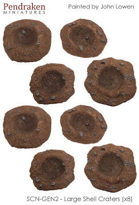 SCN-GEN2    Shell craters x 8, sizes range from 40mm-55mmm