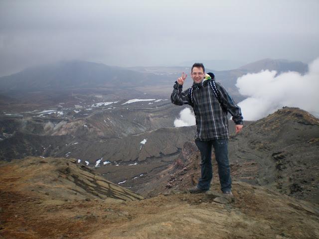 En la cima del Monte Aso