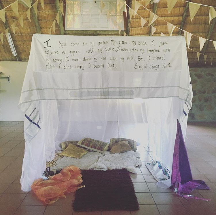 Prayer shawl sukkah | Land of Honey