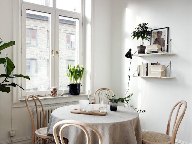 jadalnia w stylu skandynawskim