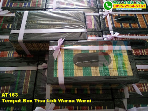 Harga Tempat Box Tisu Lidi Warna Warni