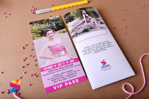 bianca 18th birthday ticket style invitation  stunro