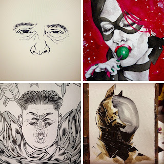Ilustraciones que Ortego tiene colgadas en su tumblr