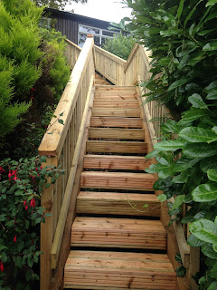 Timber decking staircase