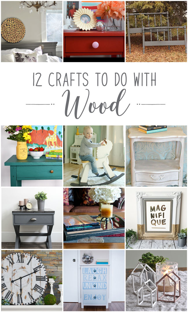 12 decorative crafts to do with wood and paint, from Canadian home and lifestyle bloggers #diy #project #decor
