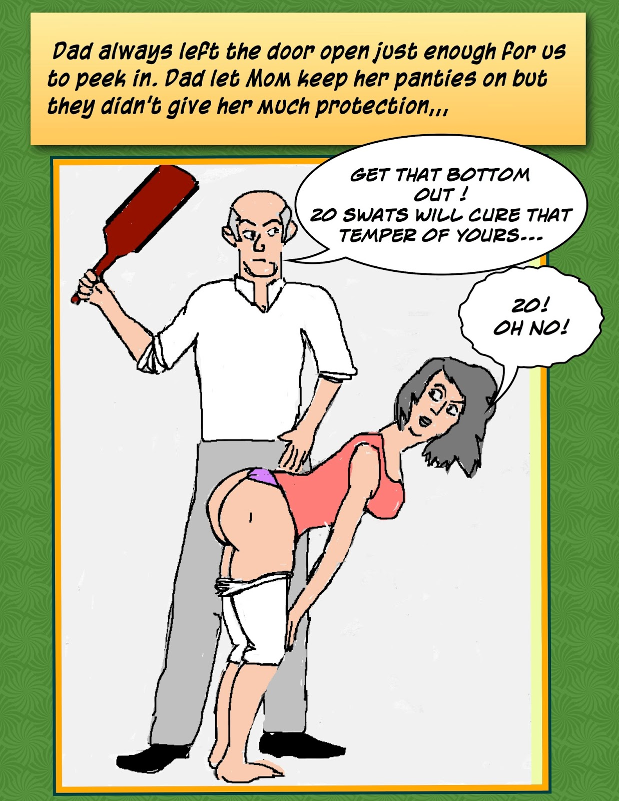 stories dad Spanked by