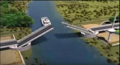 Puente Cau Cau en Chile