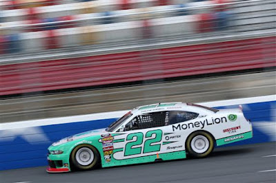 Austin Cindric drives during the NASCAR XFINITY Series Drive  for the Cure 200 at Charlotte Motor Speedway on