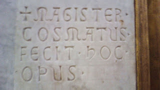 Assinatura dos Cosmatas, Sancta Sanctorum